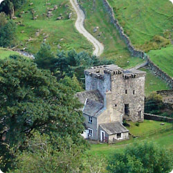 The 14th century Pele tower of Kentmere Hall